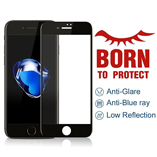 (PERFECTSIGHT 55% Anti Glare Screen Protector Compatible Apple iPhone 7 Plus 8 Plus - Blue Light Filter Anti Fingerprint Tempered Glass,1Pack)
