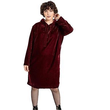 7ae278cf8fcd5 La Redoute Castaluna Womens Straight Knee Length Hooded Velvet Dress ...