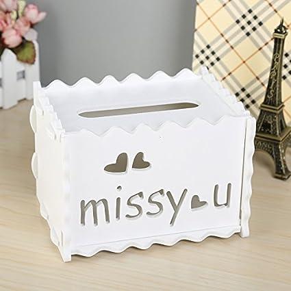 Amazon Com Viewhuge Diy Wooden Plastic Tissue Box Dispenser Napkin