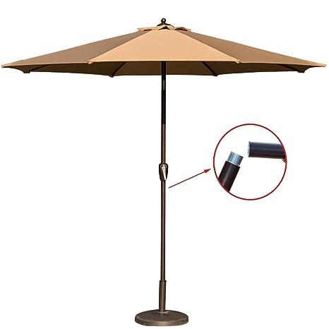 Gentil TOUCAN OUTDOOR 9 FT Patio Umbrella Market Table Aluminum Umbrella With Tilt  And Handy Crank,