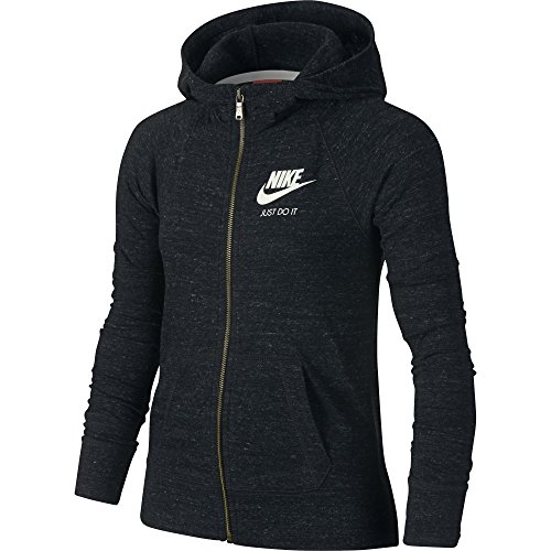 Girl's Nike Sportswear Gym Vintage Hoodie Black/Sail Size Small