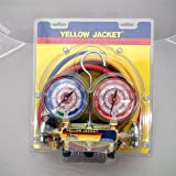 Yellow Jacket 41865 Manifold/Hose, kPa R410A, 60'' Plus II 5/16'' x 5/16'', kPa/psi, Red/Yellow/Blue