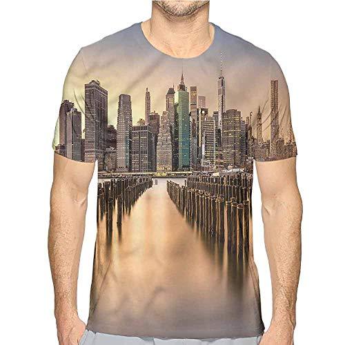 Comfort Colors t Shirt New York,Manhattan Skyline Brooklyn t Shirt L -