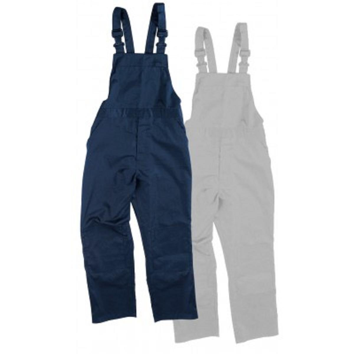Blue Castle Heavy Duty 240GSM Polyester Cotton Workmans Bib n Brace Coveralls Overalls Dungarees Navy Blue, Waist To Fit 42