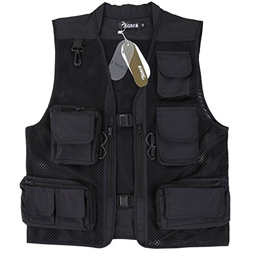 Zicac Outdoor Summer Hollow Out Thin Multi-pocketed Vest Jacket Bodywarmer...