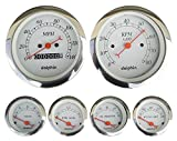 Dolphin Gauges-6 Gauge Mechanical Set - White