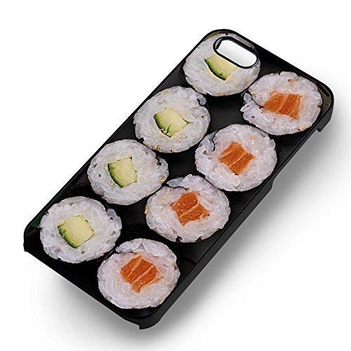 Sushi Roll pour Coque Iphone 6 et Coque Iphone 6s Case (Noir Boîtier en plastique dur) M6E5VC