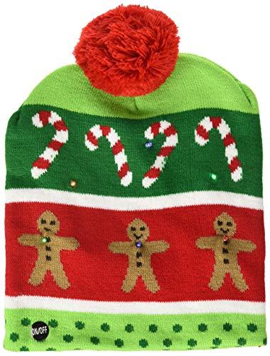 Supervisor Lotsa Lites! Flashing Holiday Christmas Knitted Hat (Gingerbread)