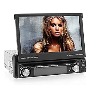 Android 4.0 1Din 7 pulgadas de coches reproductor de DVD con adaptador Wifi Ayuda GPS, TV, BT, Wifi, iPod, FM