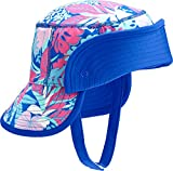 Coolibar UPF 50+ Baby Linden Sun Bucket Hat - Sun Protective (6-12 Months- Blue Tropical Floral)