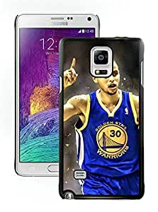 New Custom Design Cover Case For Samsung Galaxy Note 4 N910A N910T N910P N910V N910R4 Golden State Warriors Stephen Curry 3 Black Phone Case