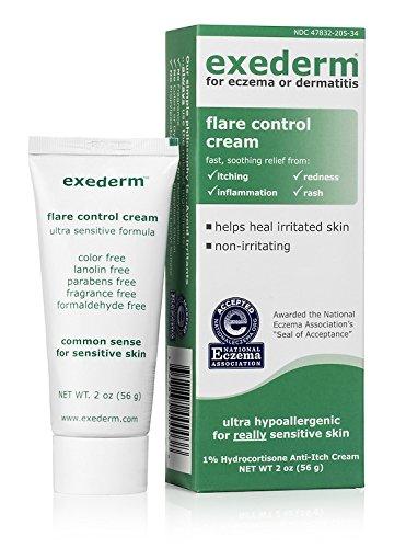 Exederm Flare Control Cream for Eczema & Dermatitis, 2oz