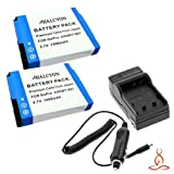 Two Halcyon 1500 mAH Lithium Ion Replacement Battery and Charger Kit for GoPro AHDBT-001 AHDBT-002 and GoPro HD Hero, HD Hero2, HD HERO Naked Digital Cameras