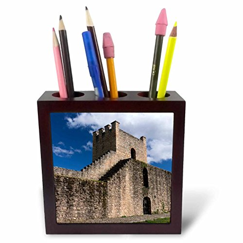 3dRose Danita Delimont - Spain - Spain, Andalusia, The historic roman stone wall at the edge of Ronda. - 5 inch tile pen holder (ph_277900_1) by 3dRose