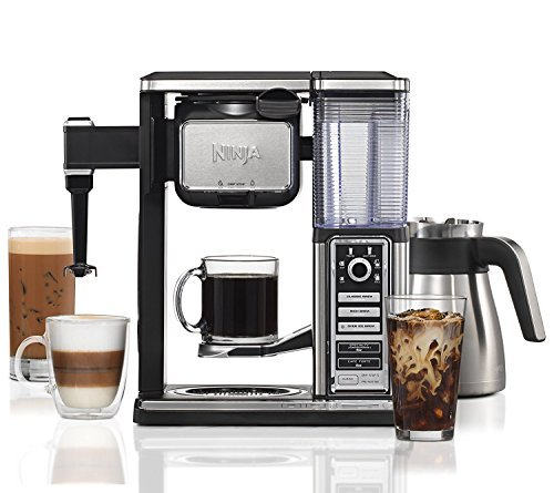 Ninja Coffee Bar Brewer System with Stainless Thermal Carafe & Over Ice Carafe- CF097 (Certified Refurbished)