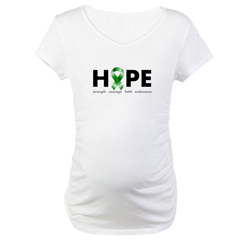e85c1b852e1ce CafePress Green Ribbon Hope Maternity T-Shirt Maternity Tee at Amazon  Women's Clothing store: