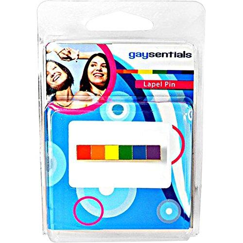 (Gaysentials Lapel Pin - Rainbow Bar, 0.5)