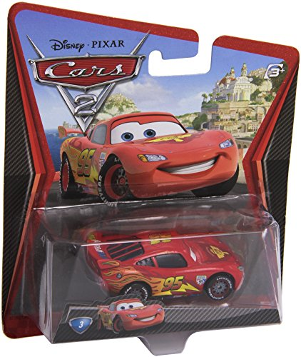 Disney/Pixar Cars 2, Lightning McQueen with Racing Wheels Die-Cast Vehicle #3 ()