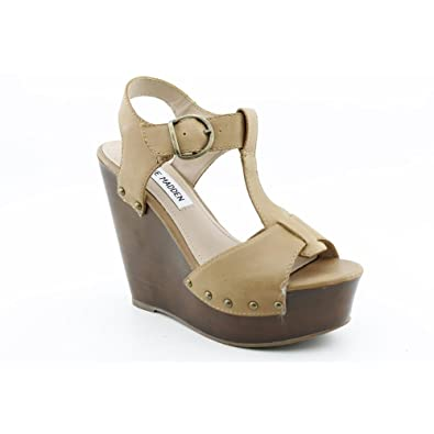 a0ef3038f71 Steve Madden Wyliee Peep Toe Wedge Sandals Shoes Womens: Amazon.co ...