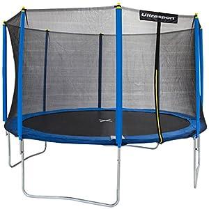 Ultrasport Gartentrampolin inklusive Sicherheitsnetz Uni-Jump, Blau, 366 cm,...