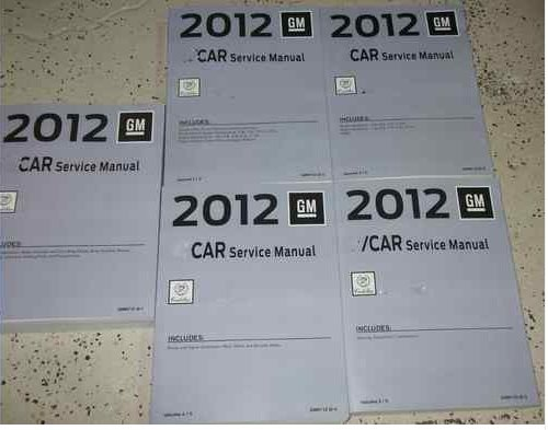 2012 CADILLAC SRX S R X Service Shop Repair Manual SET OEM BRAND NEW 2012