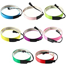 Lights & Lighting - Colorful Electroluminescent Tape El Wire 8 Colors Inverter 3v 60cm14mm - Tape Wire - 1PCs