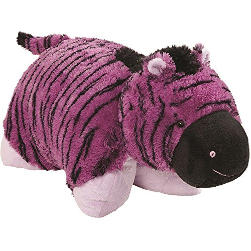 "Original Purple Zany Zebra Pillow Pet - 18"" Stuffed Animal P"