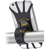 Ajeerd Suporte de telefone para bicicleta, 360° giratório de silicone, suporte estabilizador universal para guidão de…