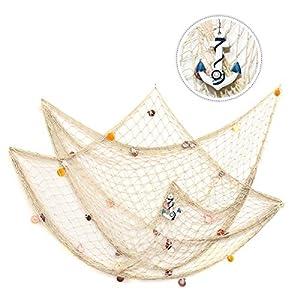 51VQlXbMC%2BL._SS300_ Nautical Fish Net Decor