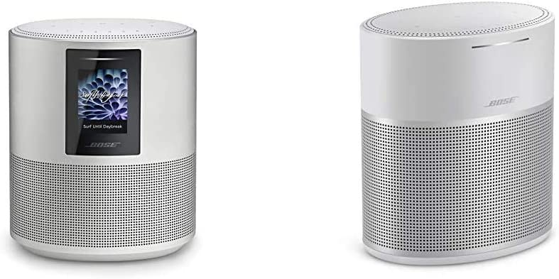 Bose Home Speaker 500 with Alexa Voice Control Built-in, Silver & Home Speaker 300, with Amazon Alexa Built-in, Silver