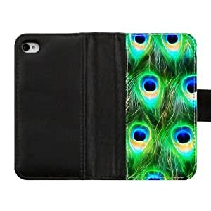 Generic Unique Otterbox-- Design Peacock Pattern Custom Diary Leather Case Cover for iPhone4 iPhone4S,With Credit Cards