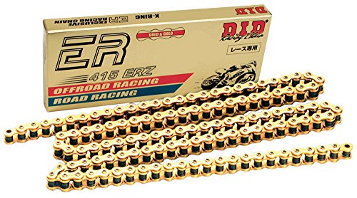 D.I.D 415ERZ-134 Gold 134-Link High Performance Racing Chain with Connecting Link
