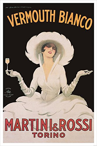 Buyartforless Vermouth Bianco Martini and Rossi by Marcello Dudovich 36x24 Art Print Poster