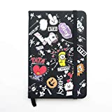 XuBa BTS Bangtan Boys BT21 Notebook PU Pocketbook Diary Book School Office Supplies 80 Sheets Bt21 Comic Version
