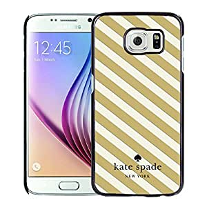 Fashionable And Unique Kate Spade Cover Case For Samsung Galaxy S6 Black Phone Case 2