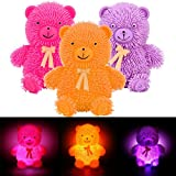 YUYOUG Decompression Toy, 12CM Novelty Flashing Light Puffer Bear Squidgy Sensory Toy Activity Play Stress Relieves Ball Soft Funny Gift for Children Adult Kids
