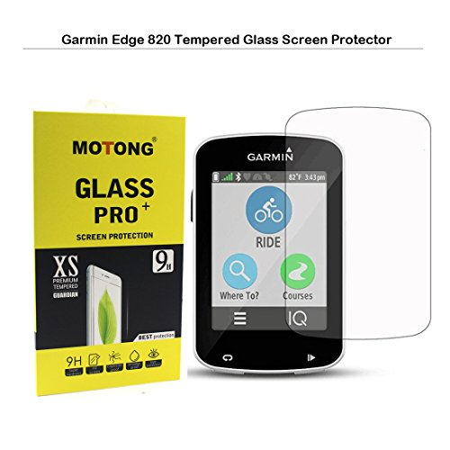 MOTONG Garmin Edge 820 Screen Protector - MOTONG LCD Tempered Glass Screen Protector For Garmin Edge 820,9 H Hardness,0.3mm Thickness,Made From Real Glass - Edge Lcd