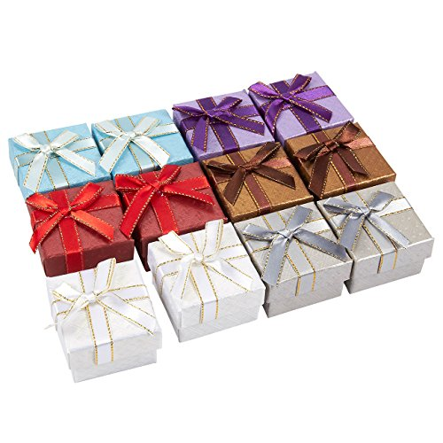 12-Piece Gift Box - Jewelry Box, Wedding Gift Boxes for Special Occasions - 2 x 1.2 x 2 Inches