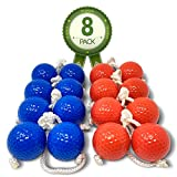 Kayco Outlet - Tournament Quality Ladder Balls Replacement - 8 Pack - for Outdoor Ladderball Toss and Golf Game Set 14.75' Size