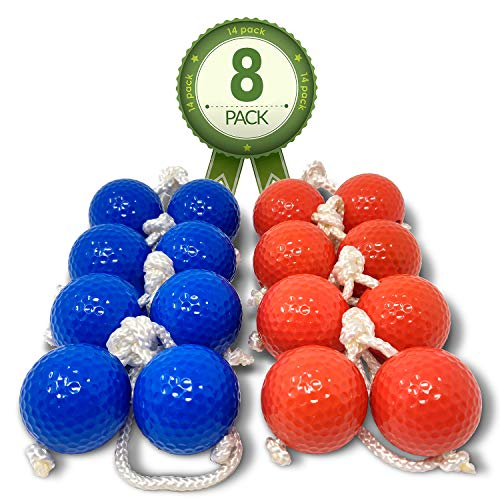 Kayco Outlet - Tournament Sized Ladder Balls Replacement - 8 Pack - for Outdoor Ladderball Toss and Golf Game Set