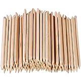 Tinksky 100pcs Multi-functional Nail Art Polish Orange Wood Sticks Cuticle Pusher Removers