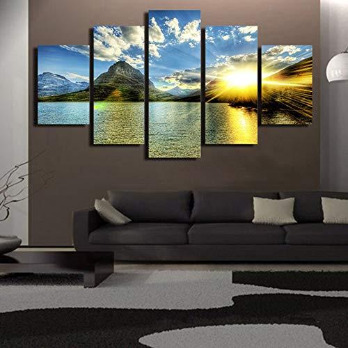 HD Posters Wall Art Pictures decoración Moderna del hogar 5 Panel ...