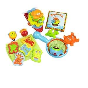 Babymoov A104907 - Juguetes para baño (18 piezas)
