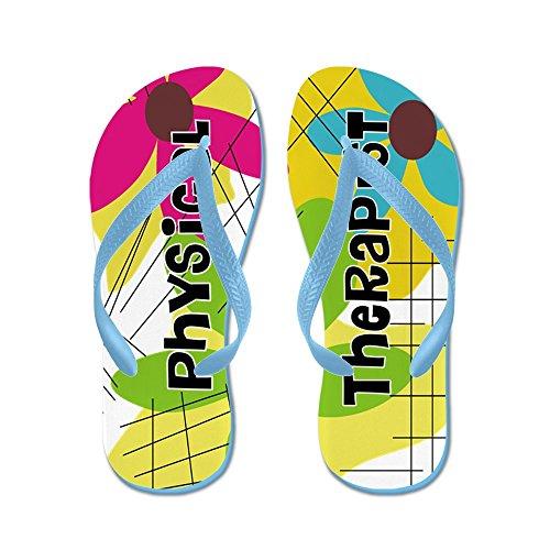 Cafepress Sjukgymnast 1 - Flip Flops, Roliga Rem Sandaler, Strand Sandaler Caribbean Blue