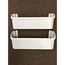 240323001 Set of 2 White door bin for Frigidaire/Electrolux Refrigerator by Edgewater Parts