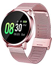 GOKOO Sports Smart Watch for Women with Physiological Period Reminder Heart Rate Monitor Blood Pressure Sleep Activity Tracker IP67 Waterproof Calorie Counter Bluetooth Smartwatch Fitness Tracker