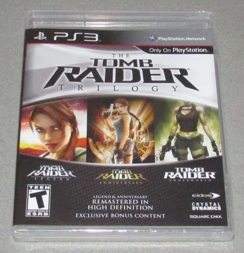 Tomb Raider: Trilogy for Playstation 3 Brand New! Factory Sealed!