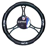 Northwest Seat Covers Steering Wheels - Seahawks OFFICIAL National Football League, Steering Wheel Cover (made to fit steering wheels 14.5 15.5)