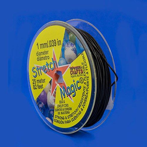 Stretch Magic Cord Stretchy Beading Cord (Black/1mm/25M)