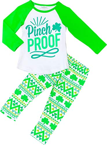 Baby Toddler Little Girls St. Patricks Day Outfit Set - Little Lucky Lady Top Leggings Set